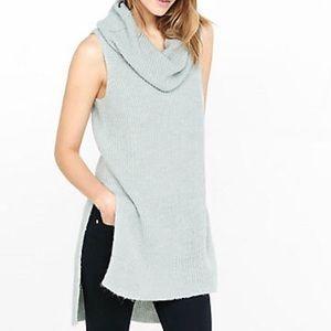 Express Sleeveless Cowl Neck Sweater Tunic